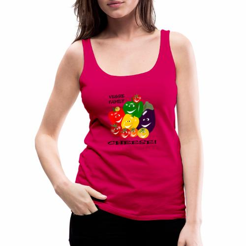 Veggie Family - Cheese - Women's Premium Tank Top