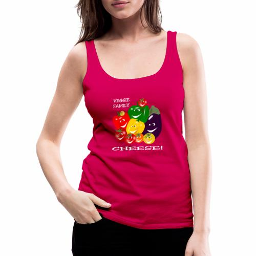 Veggie Family - Cheese! - Women's Premium Tank Top