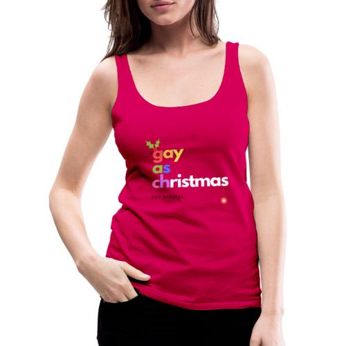 Gay as Christmas But Minimal - Women's Premium Tank Top