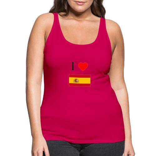 i love spain - Camiseta de tirantes premium mujer