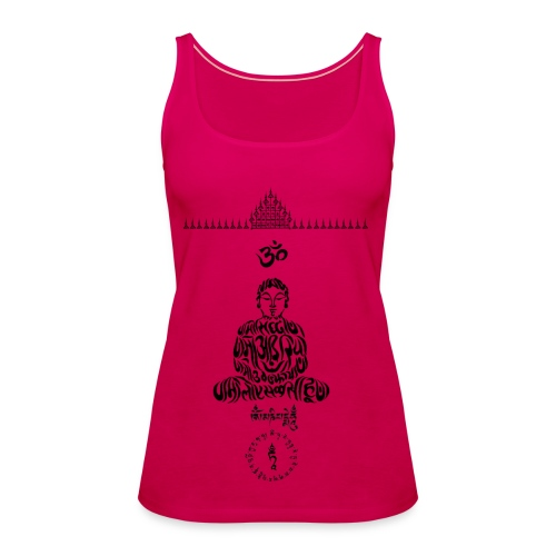 20 Unalome Budda - Canotta premium da donna