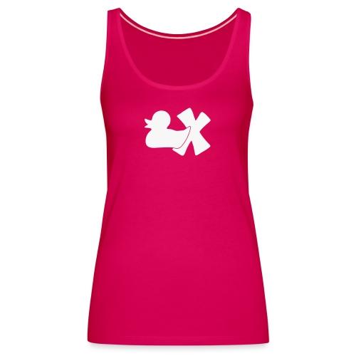 Mütze mit Ente mit X, orange samtig! - Frauen Premium Tank Top
