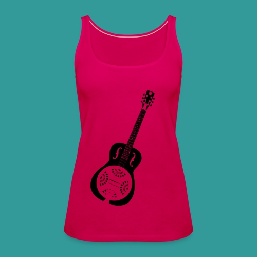 Blues Slide Guitar Stencil - Women's Premium Tank Top