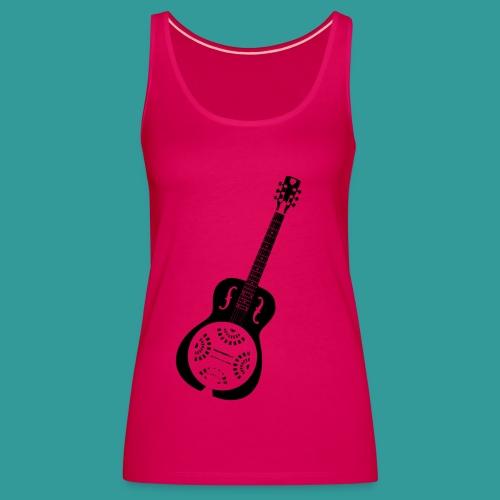Blues Slide Guitar Stencil - Women's Premium Tank Top