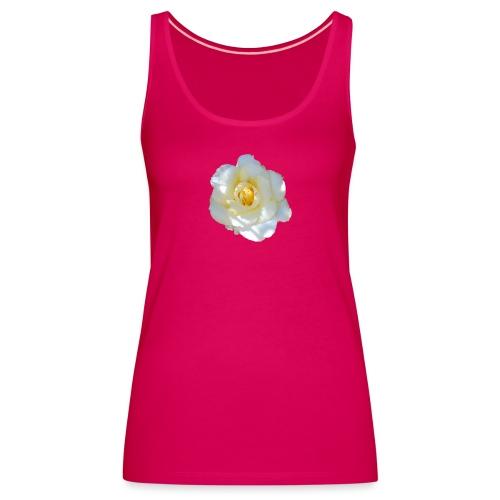 A white rose - Women's Premium Tank Top
