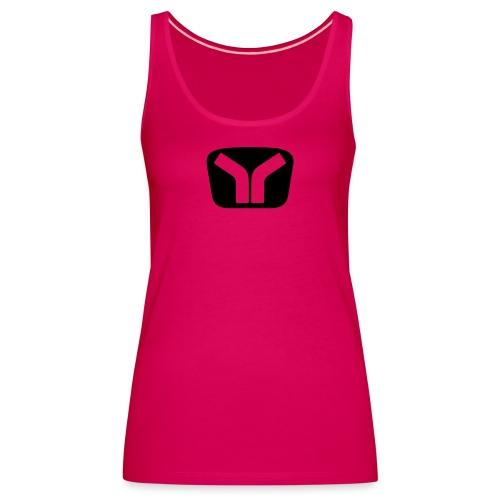 Yugo Logo Black-Transparent Design - Women's Premium Tank Top