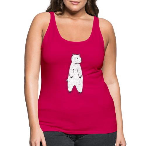 Little bear white / transparent. - Women's Premium Tank Top