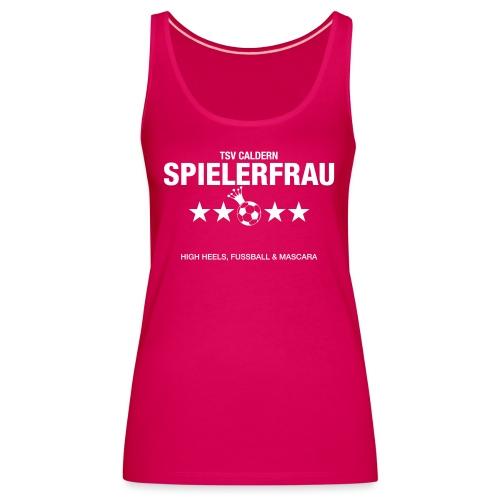 Spielerfrau High Heels, Fussball und Mascara - Frauen Premium Tank Top
