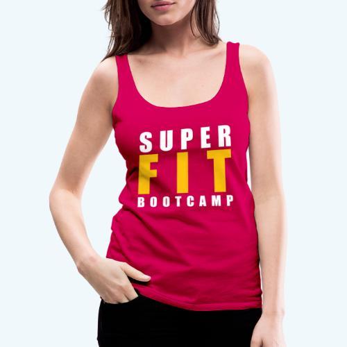 Superfit Logo on colour (non white) products - Women's Premium Tank Top