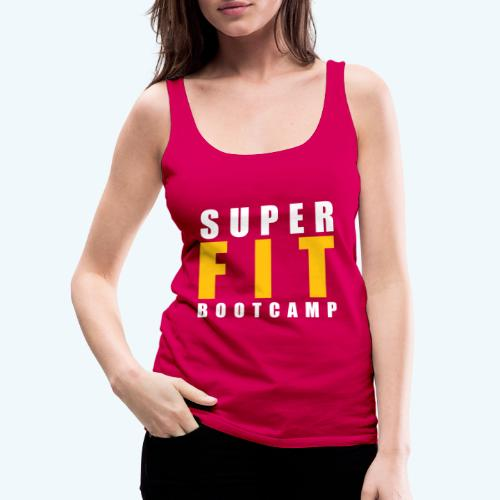 Superfit Logo on colour (non white) products - Women's Premium Tank Top