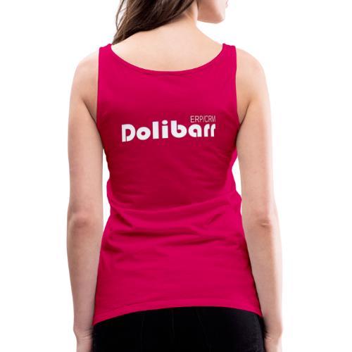 Dolibarr logo white - Débardeur Premium Femme