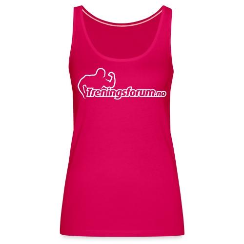 spreadshirt logo hvit png - Premium singlet for kvinner