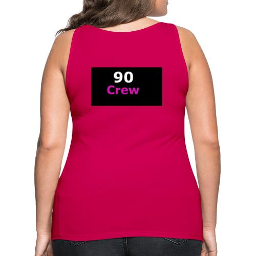 90 Crew Weiss Pink - Frauen Premium Tank Top