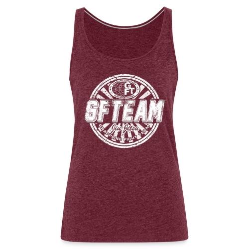 GFTEAM distressed Logo White - Women's Premium Tank Top