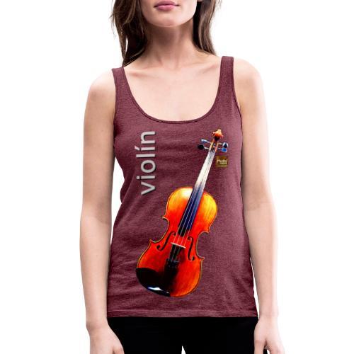 Violín - Camiseta de tirantes premium mujer