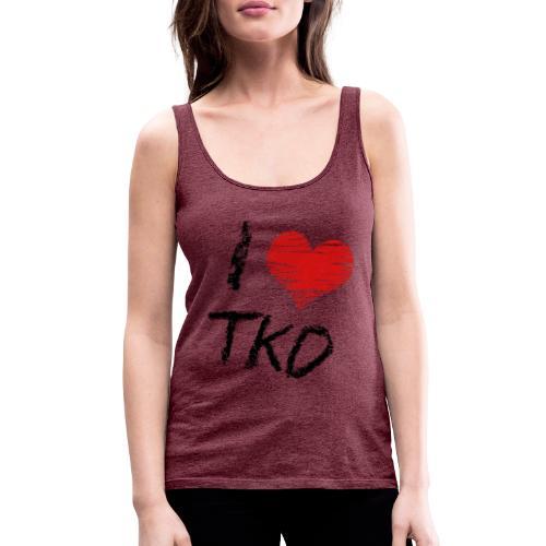 I love tkd letras negras - Camiseta de tirantes premium mujer