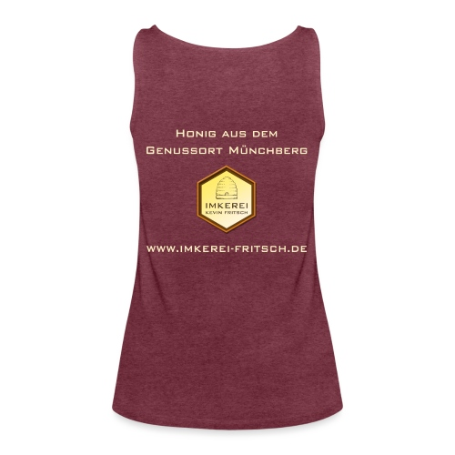 Shirt Imkerei Fritsch, Logo hinten klein und vorne - Frauen Premium Tank Top