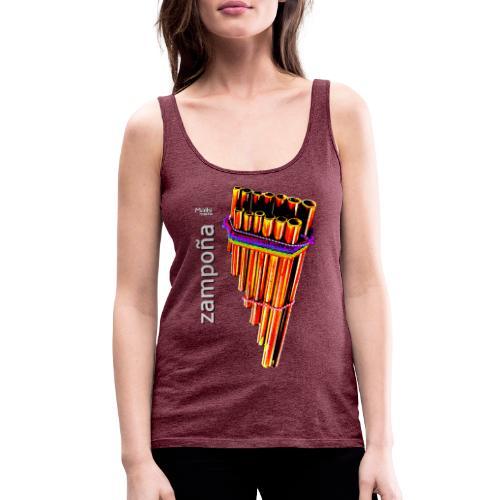 Zampoña clara - Camiseta de tirantes premium mujer