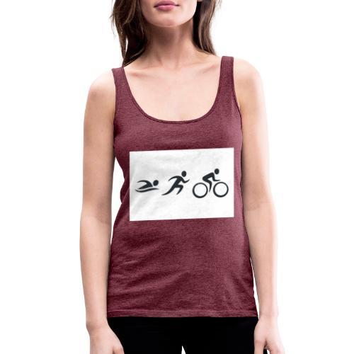 swim bike run - Frauen Premium Tank Top