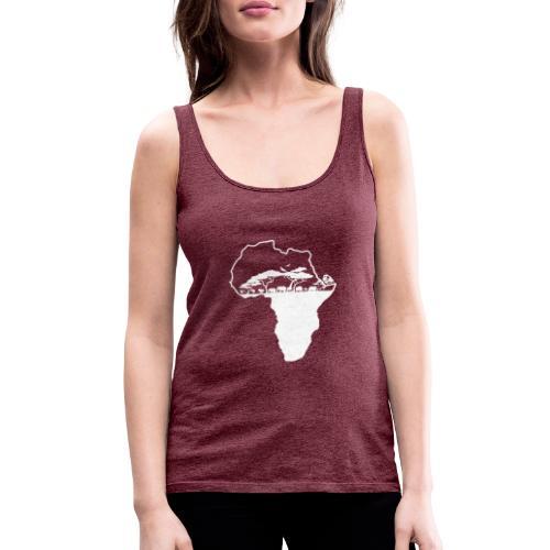 Savane Afrique logo Blanc - Débardeur Premium Femme