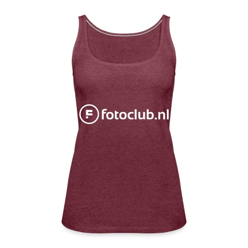 Logo Wit Fotoclublnl - Vrouwen Premium tank top