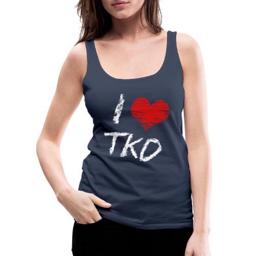 I love tkd letras blancas - Camiseta de tirantes premium mujer