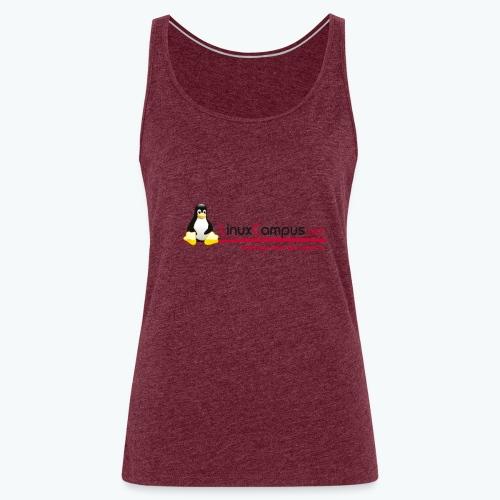 Logo linuxcampus ohneblas - Frauen Premium Tank Top