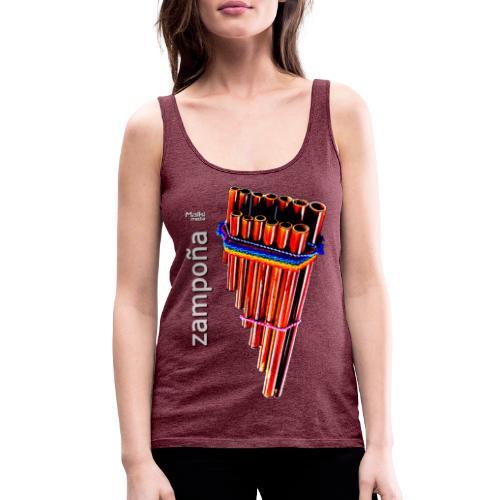 Zampoña - Camiseta de tirantes premium mujer