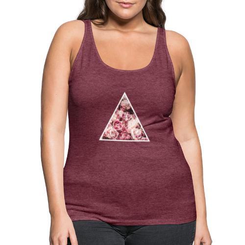 Rose triangle - Débardeur Premium Femme