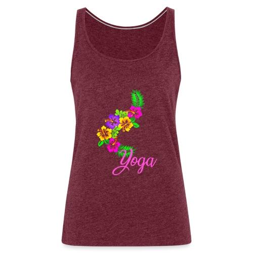 Exotisches Blumen Yoga - Frauen Premium Tank Top