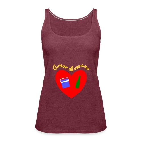 Amor de verano corazon - Camiseta de tirantes premium mujer