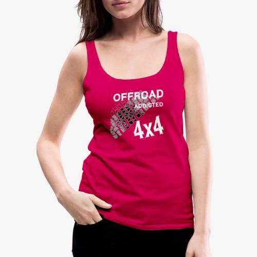 OFFroadAddictedWhite - Frauen Premium Tank Top