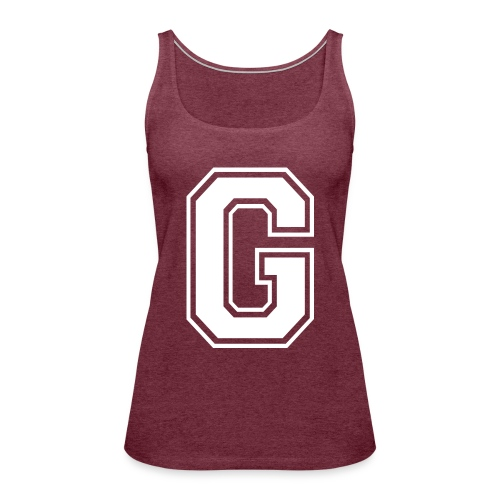 Grime Apparel G Grey Shirt. - Women's Premium Tank Top