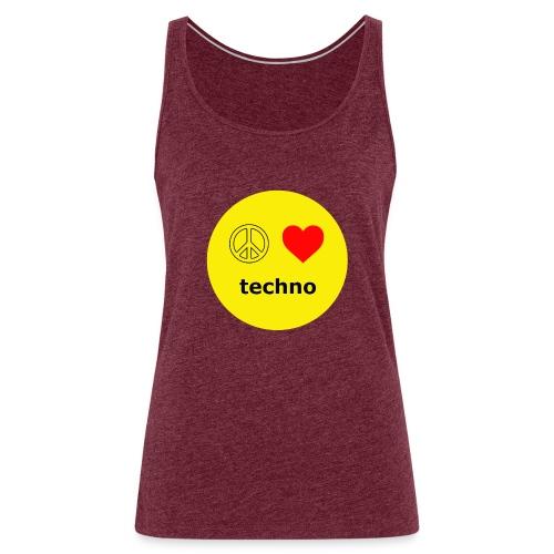 paz amor techno - Camiseta de tirantes premium mujer