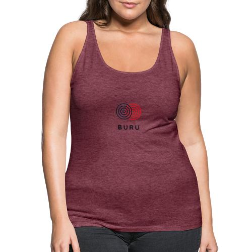 BURU negro rojo - Camiseta de tirantes premium mujer