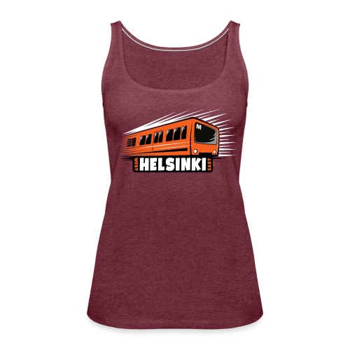 Helsinki Metro T-Shirts, Hoodies, Clothes, Gifts - Naisten premium hihaton toppi