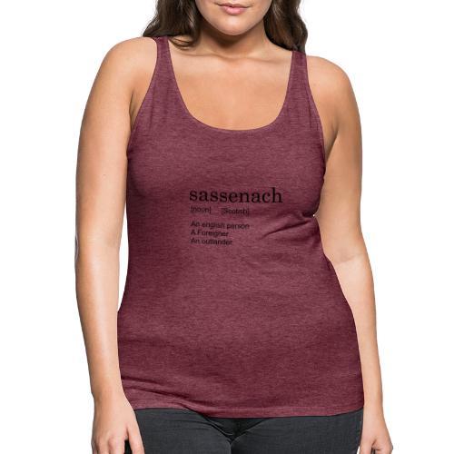 Sassench - Camiseta de tirantes premium mujer
