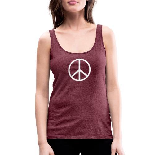 Símbolo de la paz blanco - Camiseta de tirantes premium mujer