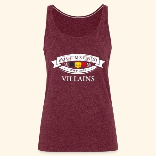 BelgiumFinestEst2015Villains white - Women's Premium Tank Top