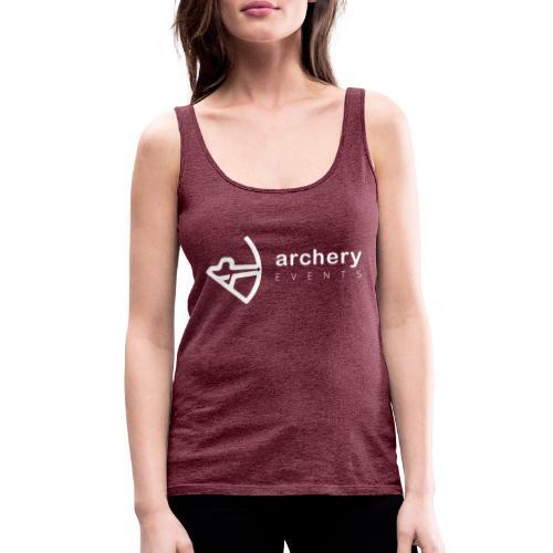 Archery Events Logo white - Frauen Premium Tank Top