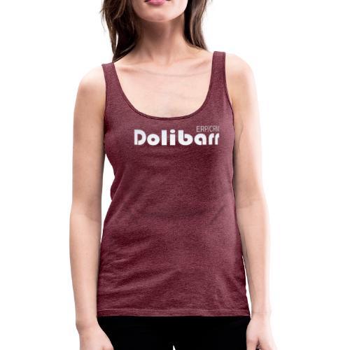 Dolibarr logo blanco - Camiseta de tirantes premium mujer