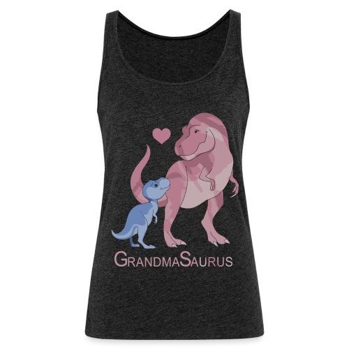Grandmasaurus grandma dinosaur shirt - Women's Premium Tank Top