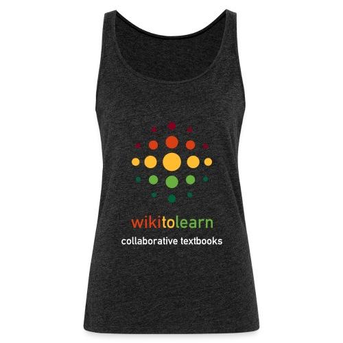 wikitolearn-logo - Canotta premium da donna
