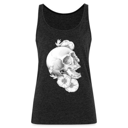 poppy skull - Frauen Premium Tank Top
