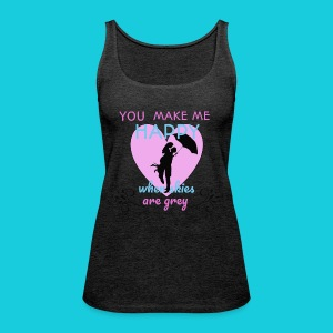 Zwapp Designs Happy - Frauen Premium Tank Top