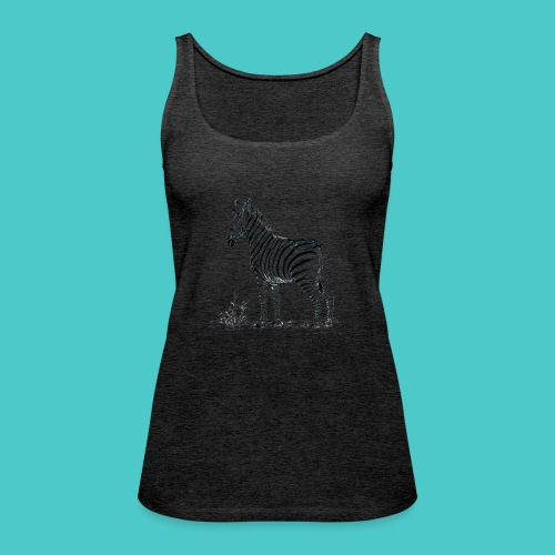 Cebra - Camiseta de tirantes premium mujer