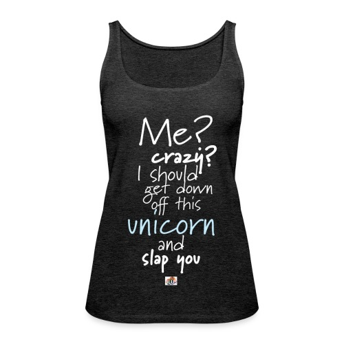 Crazy Unicorn - Dark - Women's Premium Tank Top