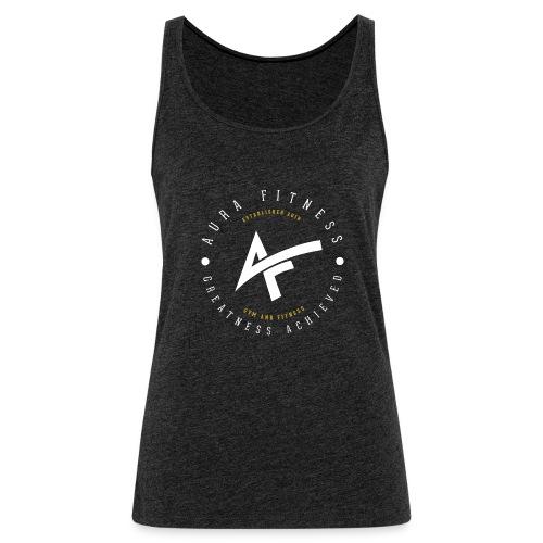 Aura Fitness BLACK/BLACK - Women's Premium Tank Top
