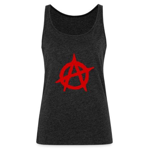 Anarchy logo rosso - Canotta premium da donna