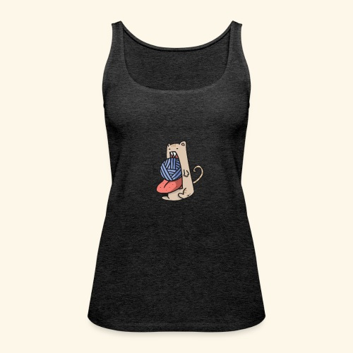 the eat-all-you-can cat - Women's Premium Tank Top